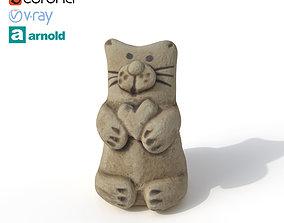 Statuette Cat paws 3D model