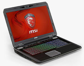 MSI GT70 3D asset animated