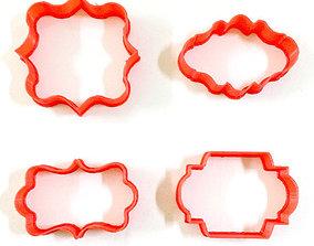 4 Vintage Cookie Cutter Frames 3D print model