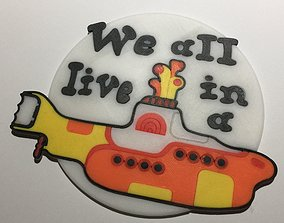 3D print model The Beatles Yellow Submarine Coaster