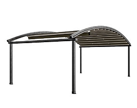 Motorized Pergola 4 dark iron 3D