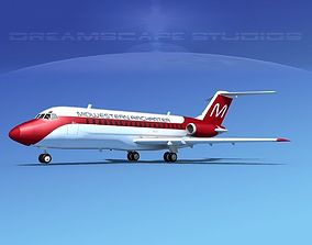 Douglas DC-9-15 Midwestern Air 3D model