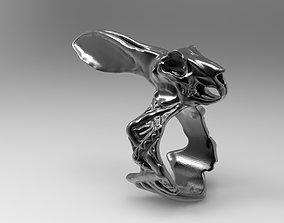 3D print model Skull Hare Ring