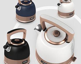 sunbeam classic bronze pot kettle 3D