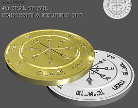 seal 3D print model 4th Seal of Sol