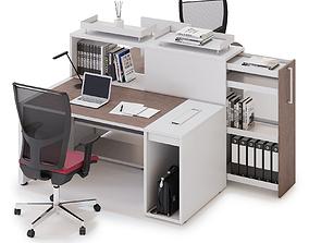 3D model Office workspace LAS LOGIC v2