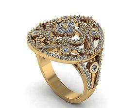 Circle Ring 3D print model stone