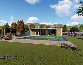 3D model VACATION HOUSE WITH OUTDOOR KITCHEN AND SWIMMING
