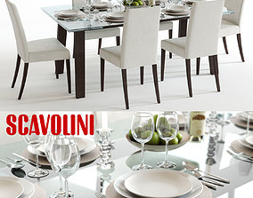 3D model Scavolini Freetime Dining Set