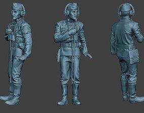3D printable model German Tank Crew unit ww2 Radio GTC1
