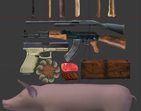 Survive game pack 3D model