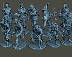 German soldiers ww2 G3 Pack1 3D model