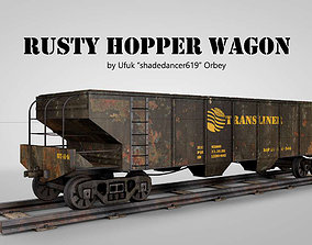 Rusty Hopper Wagon 3D