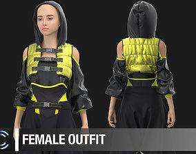 Female outfit Marvelous Designer Clo 3D project