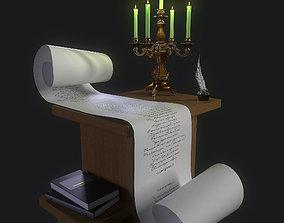 3D model book Candlestick