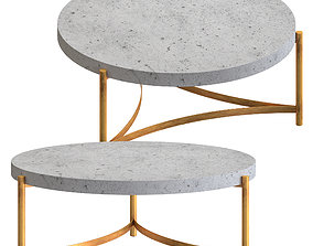 3D Niles Cement - coffee tables
