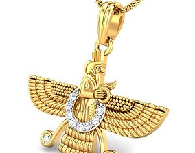 3D print model Candere The Zoroastrian Diamond Pendant