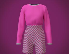 3D shirt and pants - checkered shorts and t-shirt