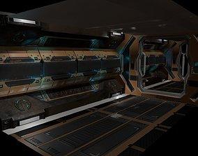 Sci-fi Corridor 3D asset game-ready