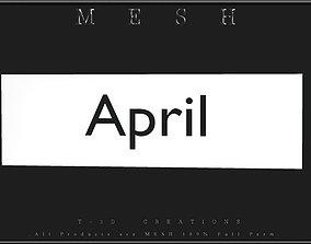 April - C 3D asset