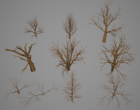 3D asset Dead Tree pack - Low Poly