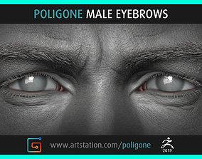 Poligone Male Eyebrows 3D