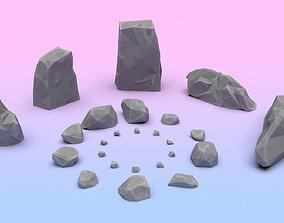 Stones pack 3D asset realtime