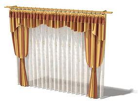 3D Gold Curtain Set