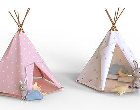 Kids Tent Wigwam nursery 3D model