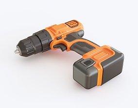 Black decker codless drill 3D model