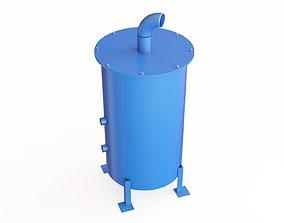 3D model Boiler blowdown