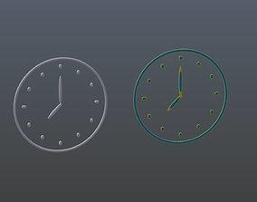 Clock symbols 1 3D model