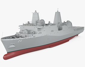 San Antonio-class amphibious transport dock 3D