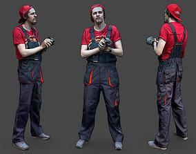 3D model Stylized Car Mechanic Character worker