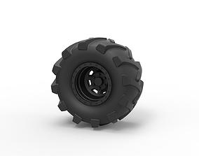3D print model Diecast Offroad wheel 21