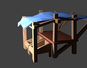 3D model Low poly Market