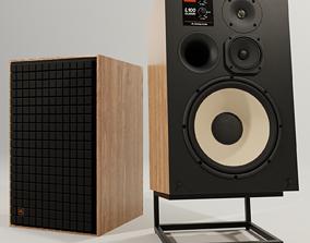 JBL L100 CLASSICS Loudspeaker with Stand PBR 3D model