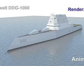 3D Zumwalt DDG-1000