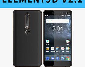 E3D - Nokia 6 2018 Black model 3D model