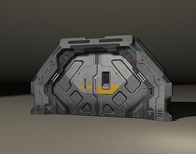 SciFi 3D door low-poly