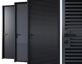 3D Black modern doors