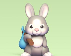 3D print model Travelling Bunny