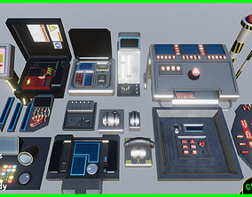 3D PBR Sci fi Buttons Levers and Gear Ultimate Pack