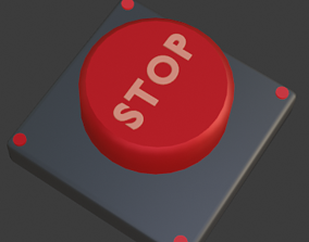 Emergency Button Low-poly 3D model low-poly
