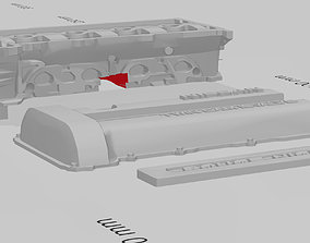 SR20 halfcut head and valvecover for RC 3D printable model