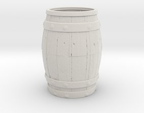Barrel Toothpick container 3D print model
