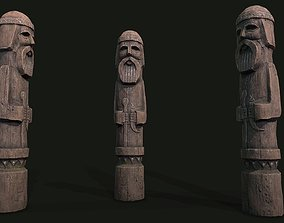 Totem wood 4 pbr 4k 3D model
