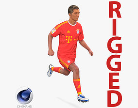 Soccer Player Bayern Rigged 2 for Cinema 4D 3D