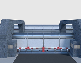 Compound Fence - Modular 3D model