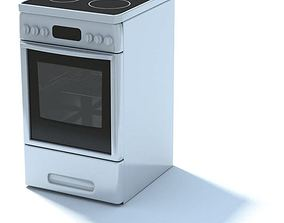 3D Kitchen Appliance Electric Stove